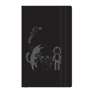 Cat & Friends Notebook (Black)