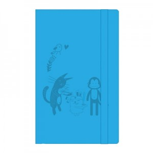 Cat & Friends Notebook (Blue)