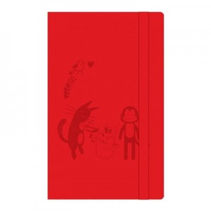 Cat & Friends Notebook (Red)